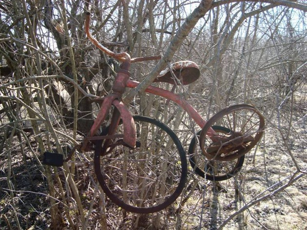 rusted tricycle