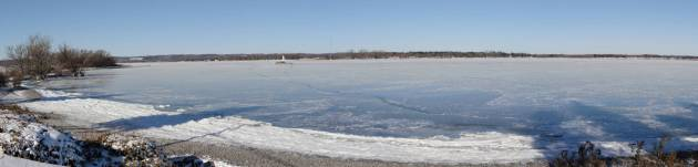 Presqu'ile Bay Ontario winter ice