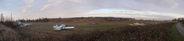 Comox,Airpark,Comox estuary,British Columbia,Vancouver Island,Courtenay River Walkway Panorama