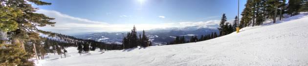 Mount Washington BC Vancouver Island panorama