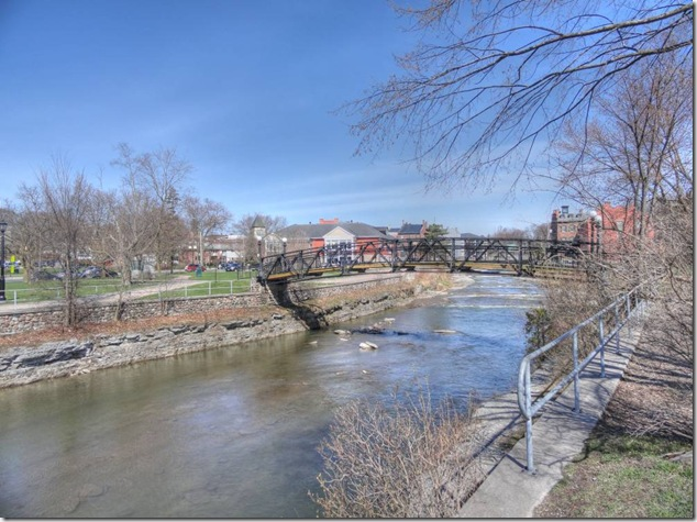 Port Hope,foot bridge,Lake Ontario,history,uranium,Ganaraska,history,Hamilton Bridge Works,Canadian Pacific Railway viaduct