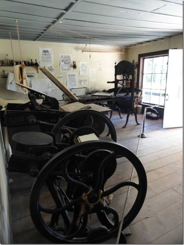 Upper Canada Village,Ontario,History,K-12,educational,printing,type setting,print shop
