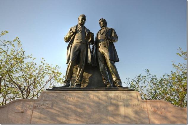 Baldwin Lafontaine Monument,Ottawa, Ontario,Parliament Hill