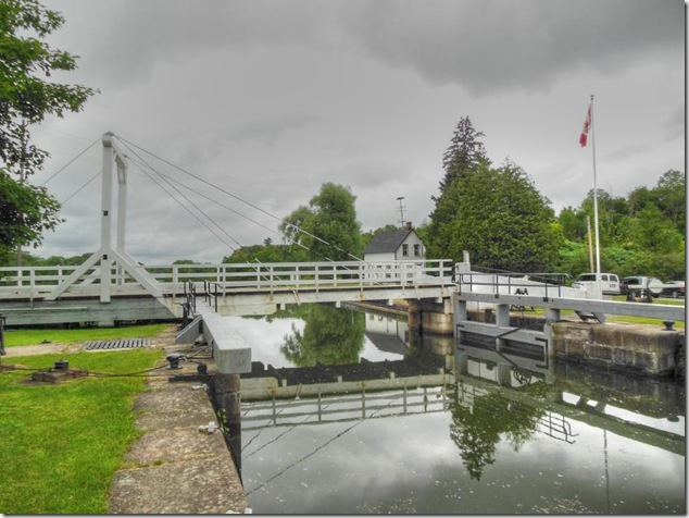 Rideau Canal,Lower Brewers,Lock 45,swing bridge,timber king post swing bridge